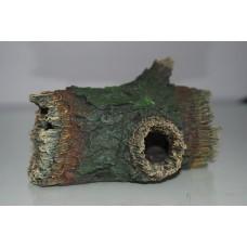 Detailed Ornamental Hollow Log 16 x 9 x 10 cms